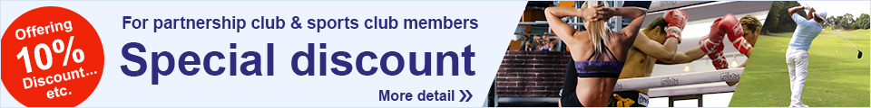 Special discount For partnership club & sports club members